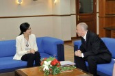 Mark in discussion with Yingluck Shinawatra