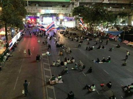 PDRC Bangkok on the decline